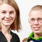 Porträtt av Liva Isakson Lundin och Linnéa Sjöberg. Foto: Christian Habetzeder.