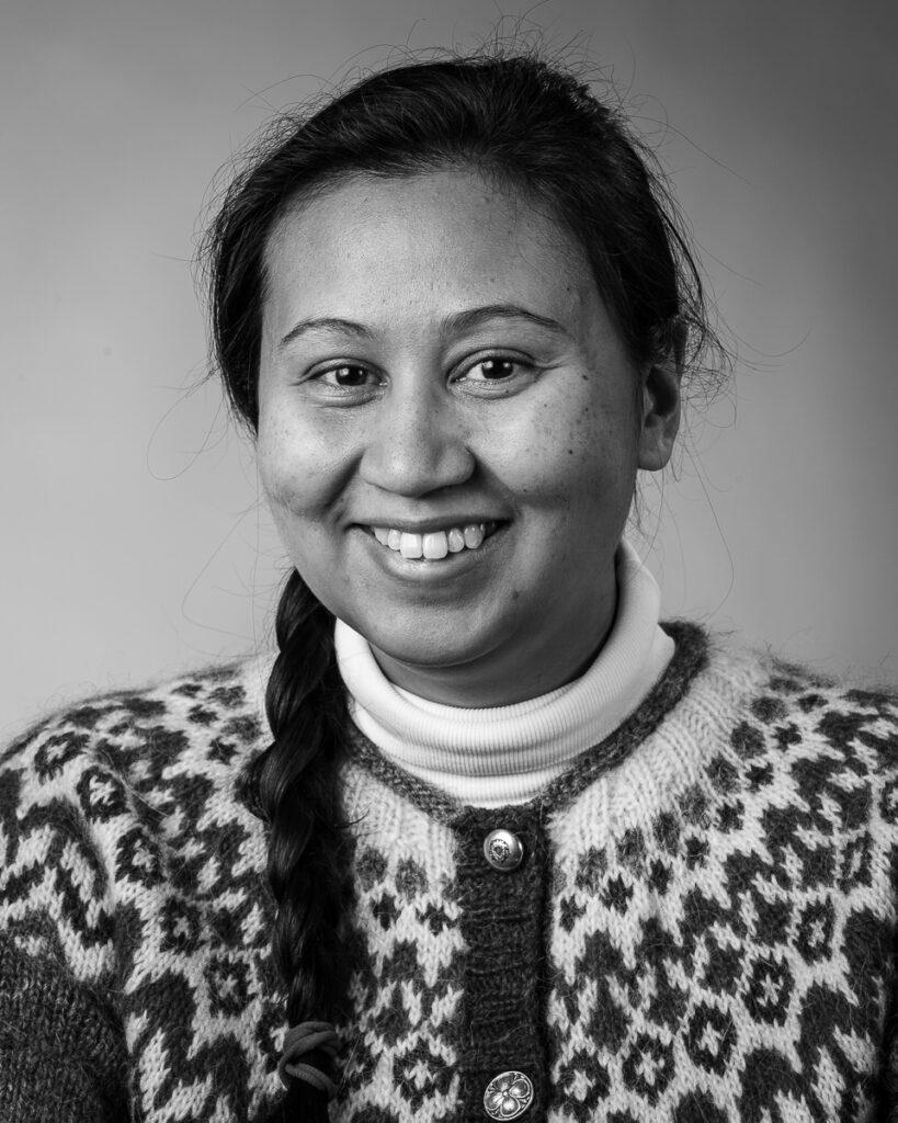 Sophia Olsson, elev vid Sätergläntan institutet för slöjd och hantverk.