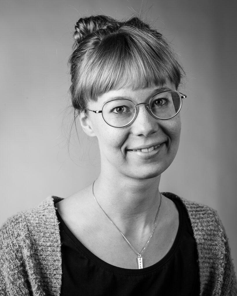 Moa Smedberg, elev vid Sätergläntan institutet för slöjd och hantverk.