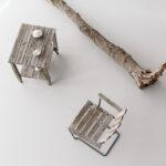 Konstverk av medlemmarna i LOD Metallformgivning på VIDA Museum & Konsthall.