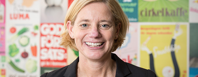 Marika Hjelm Siegwald, kommunikationschef Coop Inköp & Kategori och Coop Logistik. Foto: Christian Habetzeder.