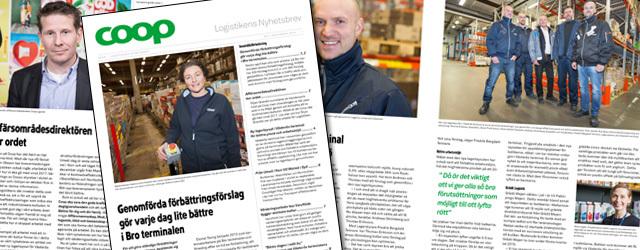 Redaktionella bilder till Coop Logistik nyhetsbrev 2014-2