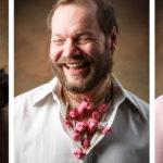 Tre porträtt till annonser för utställning på Nutida Svenskt Silver. Foto: Christian Habetzeder.
