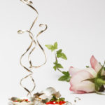 Kryddställ i silver och rödguld av silversmeden Petronella Eriksson till H.K.H. Kronprinsessan Victoria. Foto: Christian Habetzeder.