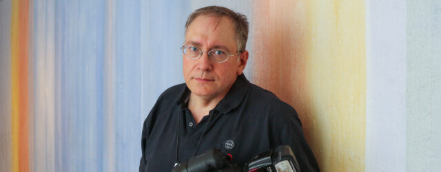 Fotograf Christian Habetzeder. Foto: Kristian Engström.